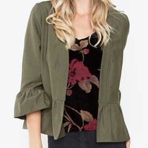 NWT Olive Green Cropped Jacket